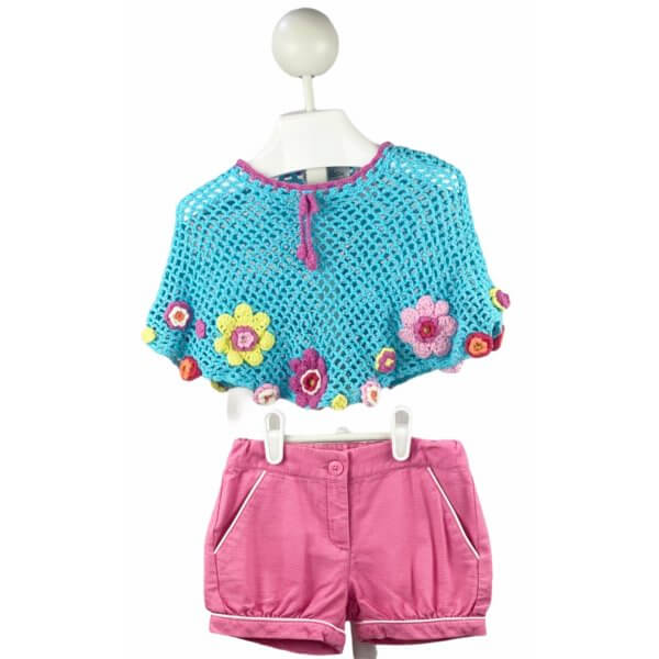 Knitted Poncho | Shorts