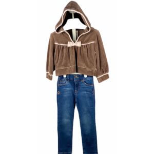 Long Sleeve Shirt with Hoodie   Jeans