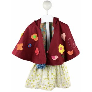 Cape with Hoodie   Skirt