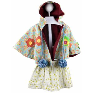Cape with Hoodie | Skirt