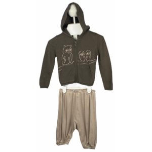 Knit Cardigan with Hoodie | Pants