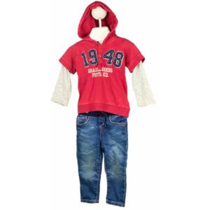 Long Sleeve Shirt with Hoodie | Jeans