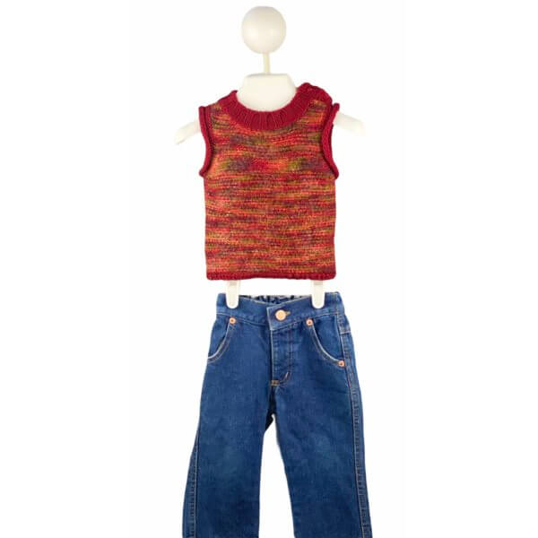 Knit Top   Jeans