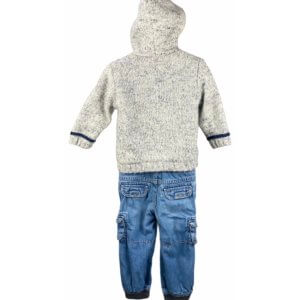 Knit Jacket with Hoodie | Jeans