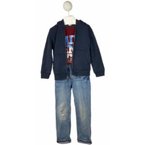 Long Sleeve Shirt | Jacket with Hoodie | Jeans