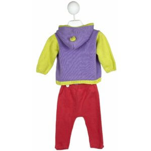 Knit Cardigan with Hoodie   Knit Pants