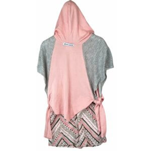 Top with Hoodie | Skirt